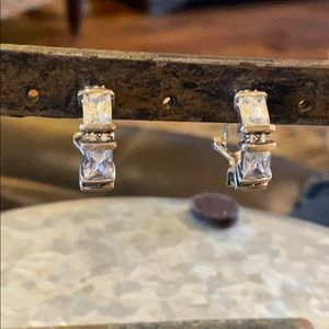Silpada Clip Ons with Cubic Zirconia